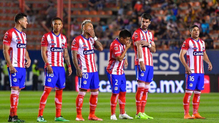 Jugadores del Atlético de San Luis previo a un partido