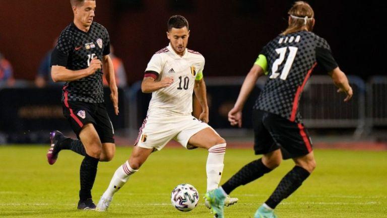 Eden Hazard en acción con Bélgica