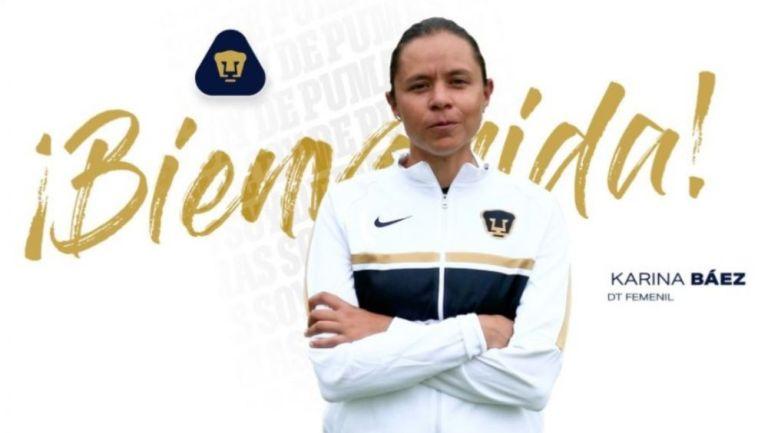 Karina Báez, nueva DT de Pumas