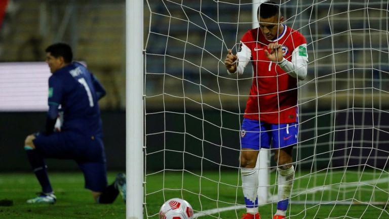 Alexis Sánchez en lamento con Chile