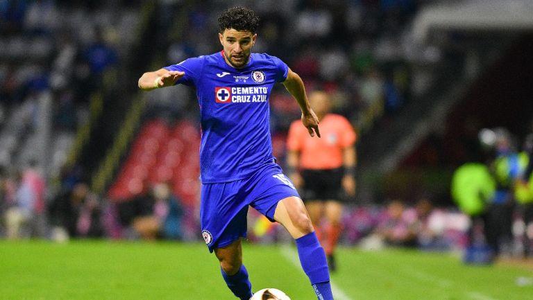 Nacho Rivero durante un partido con Cruz Azul