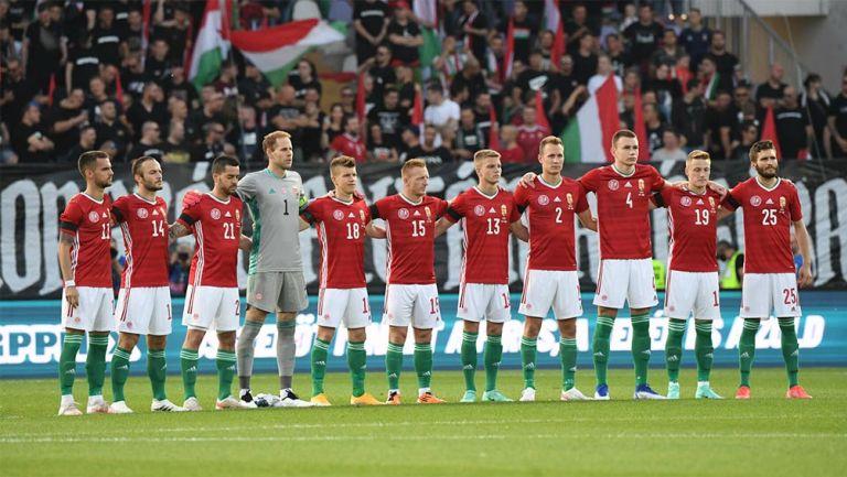 La Selección de Hungría previo a un partido