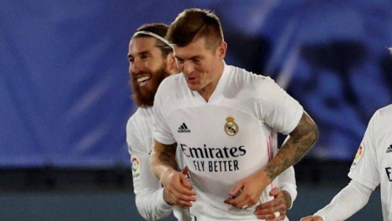 Sergio Ramos y Toni Kroos con el Real Madrid
