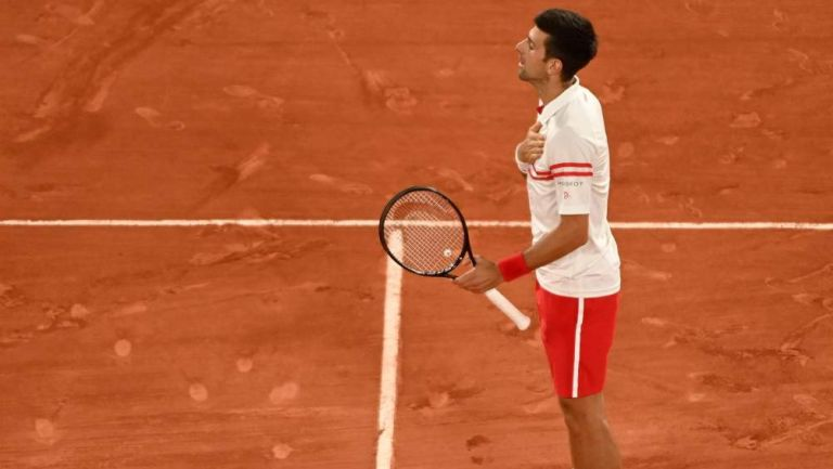 Djokovic en partido