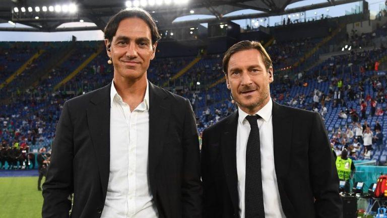 Nesta y Totti en la inauguración
