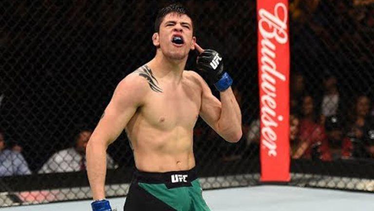 Brandon Moreno durante una pelea