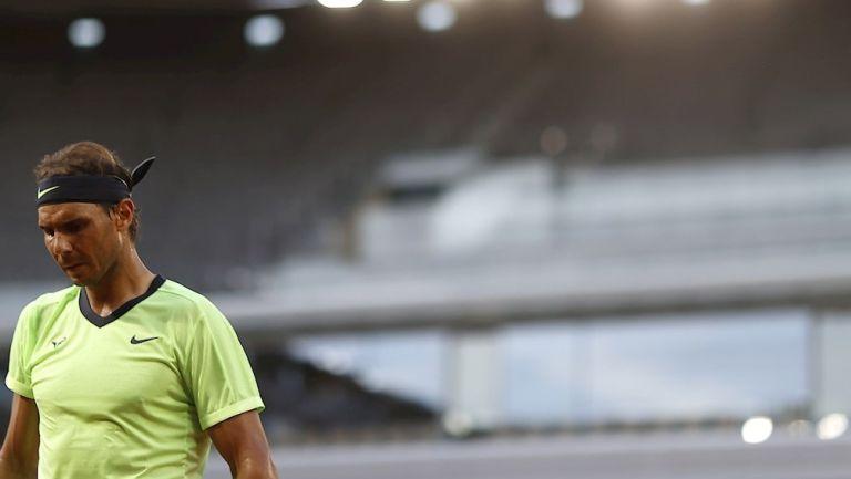 Rafael Nadal en derrota vs Djokovic