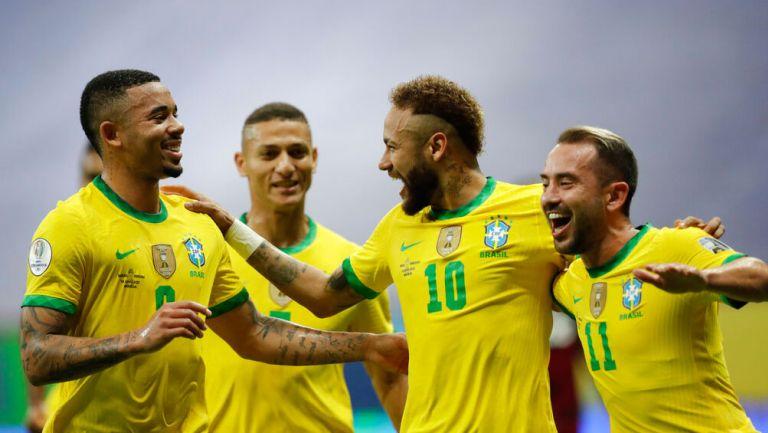 Neymar, en festejo de gol