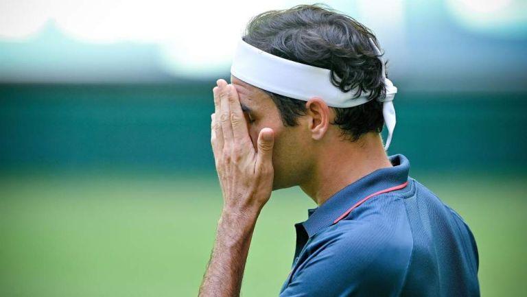 Roger Federer en partido