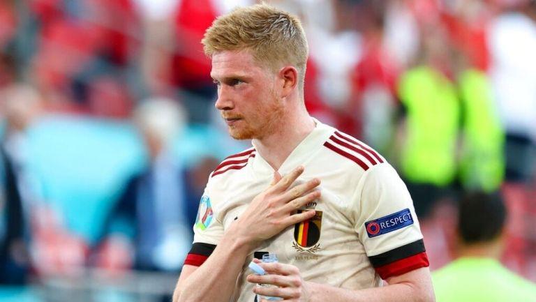 De Bruyne en partido con Bélgica