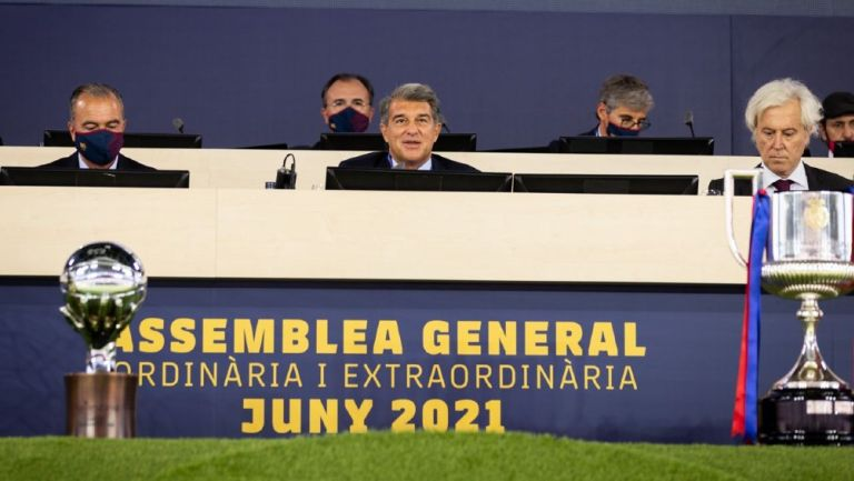 Joan Laporta en la Asamblea General Ordinaria y Extraordinaria del Barcelona