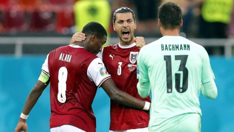 Austria en celebración de gol
