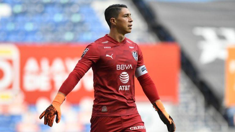 Hugo González durante un partido con Monterrey