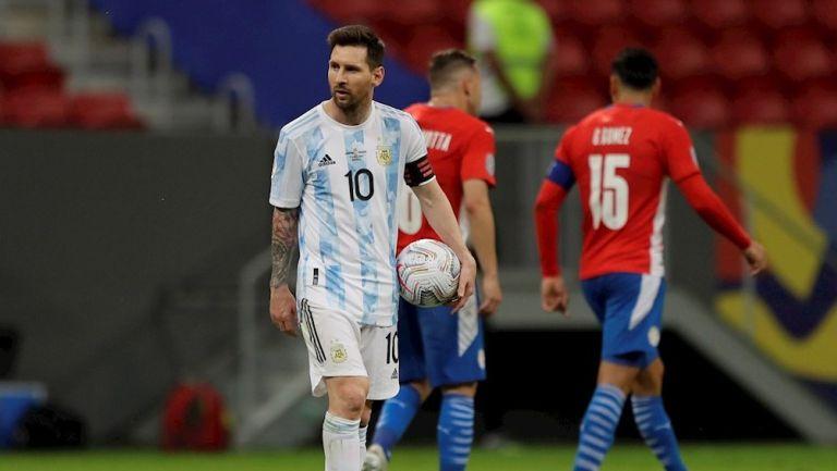 Lionel Messi en victoria vs Paraguay