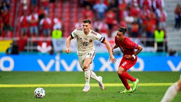 Thomas Meunier con Bélgica en la Eurocopa 2020