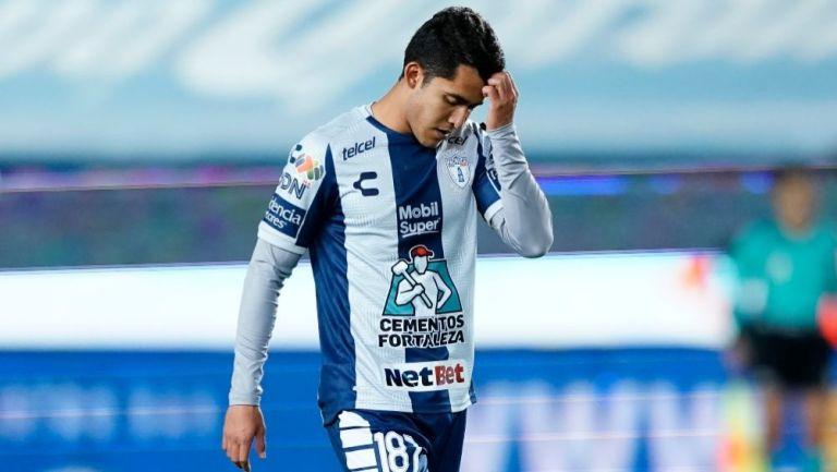 Luis Calzadilla en un partido con el Pachuca Sub-20