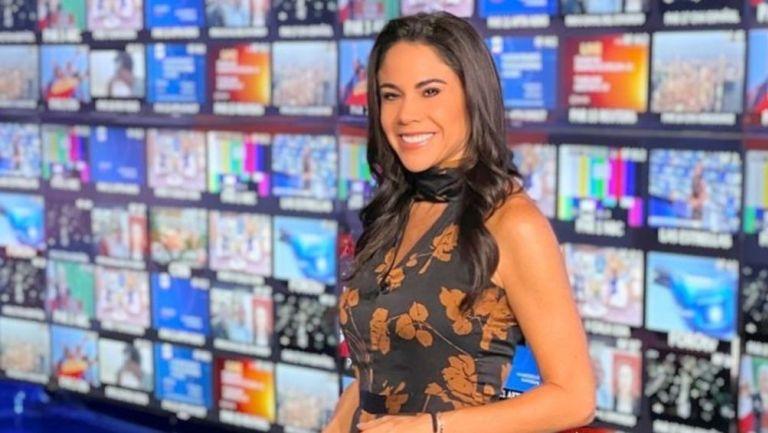 Paola Rojas en noticiero