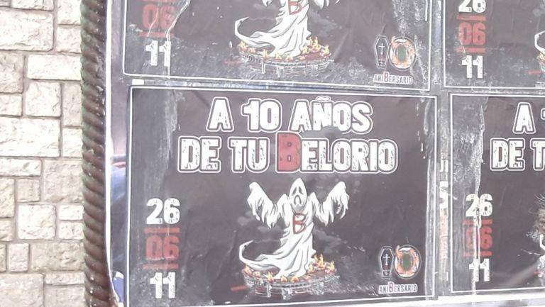 River Plate: Aficionados de Boca festejaron décimo aniversario del descenso del archirrival