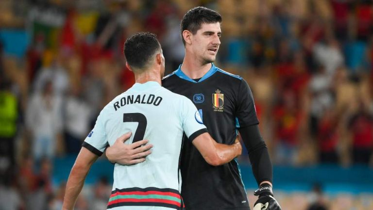 Cristiano Ronaldo y Courtois