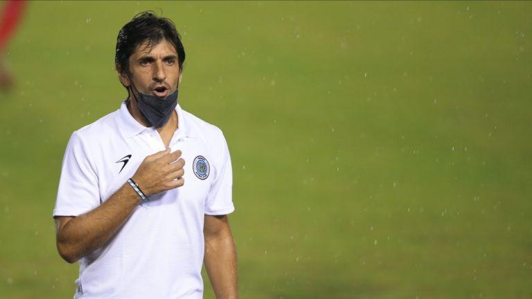 Federico Vilar durante un partido con Cancún FC