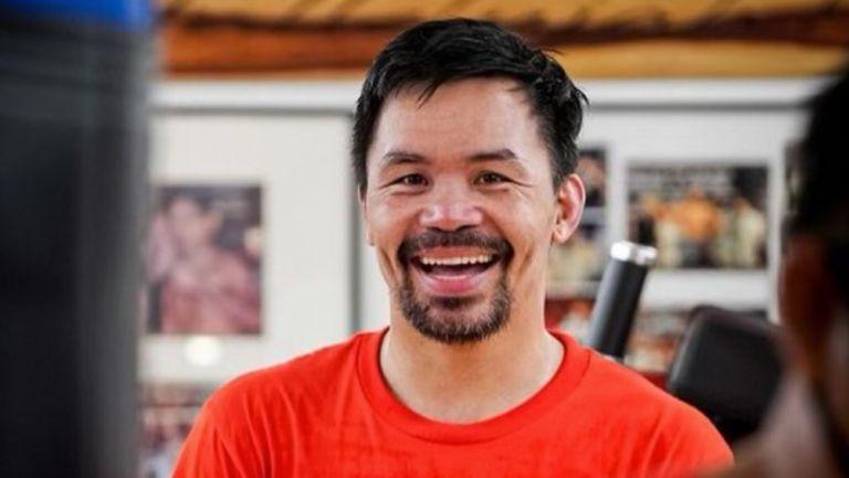 Manny Pacquiao durante un entrenamiento
