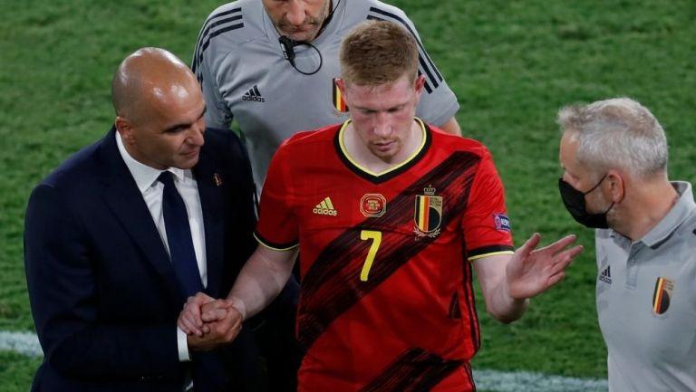 De Bruyne abandonó vs Portugal