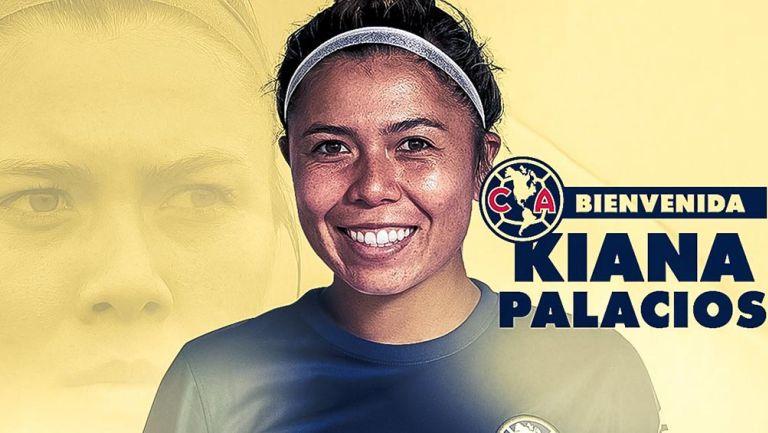 América Femenil: Kiana Palacios es nueva jugadora azulcrema, oficializó el club