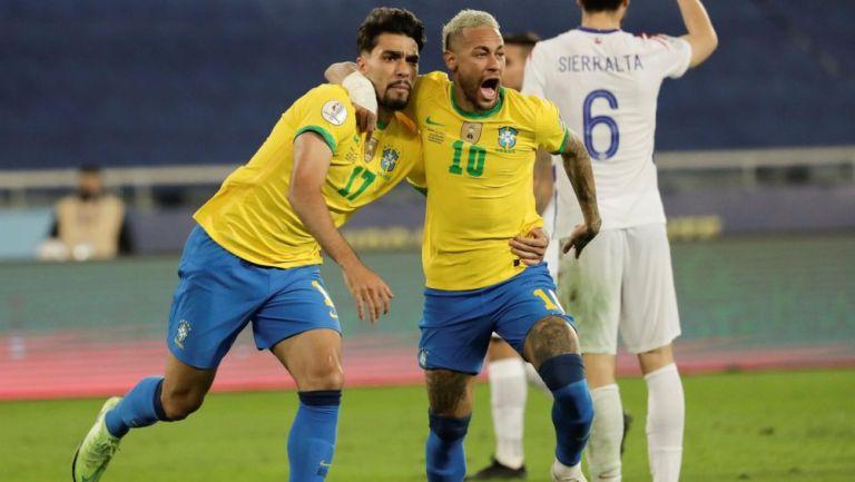 Paquetá y Neymar ante Chile