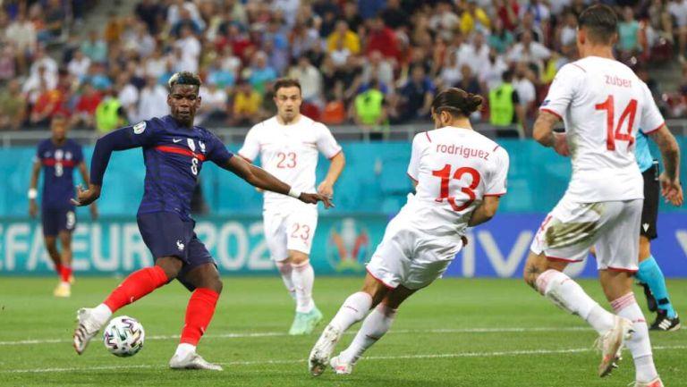 Francia vs Suiza en partido