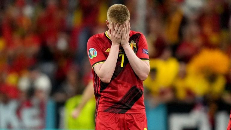 Kevin De Bruyne en el partido entre Bélgica e Italia