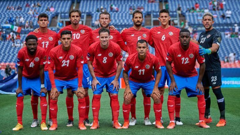 Selección de Costa Rica previo al partido