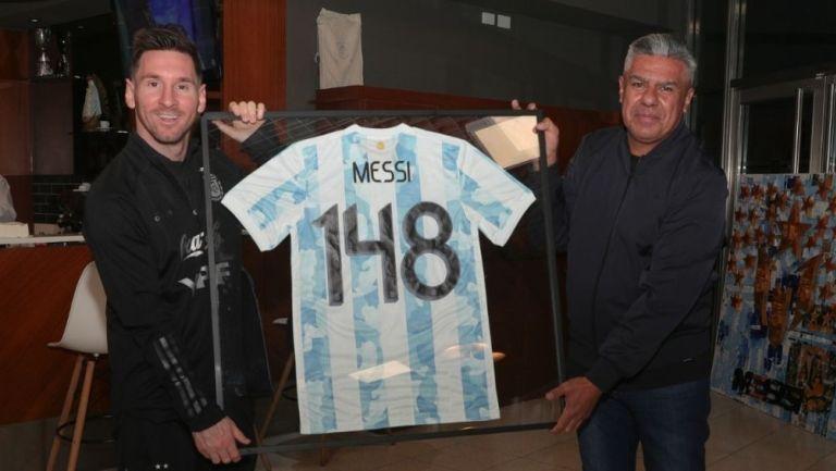 Messi con su reconocimiento
