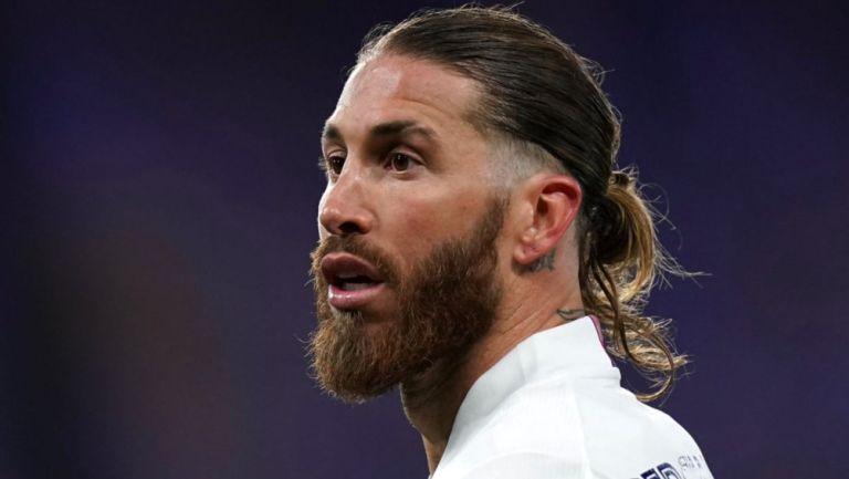 Sergio Ramos durante partido del Real Madrid