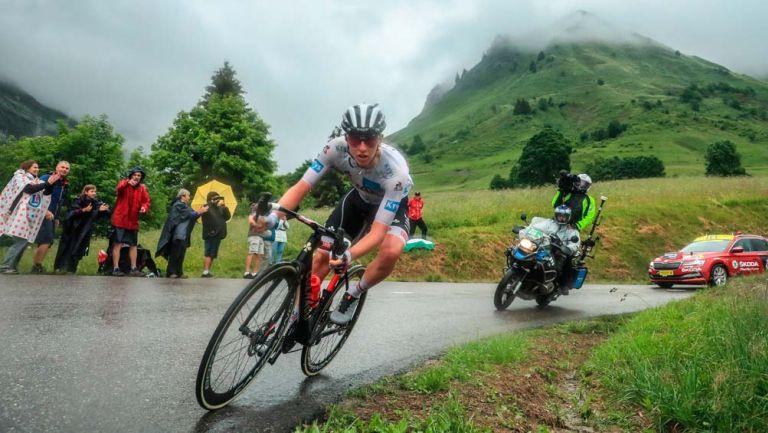 Tadej Pogacar en la octava etapa del Tour de Francia