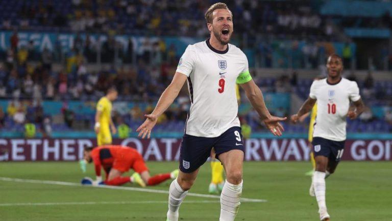 Harry Kane celebra una anotación con Inglaterra