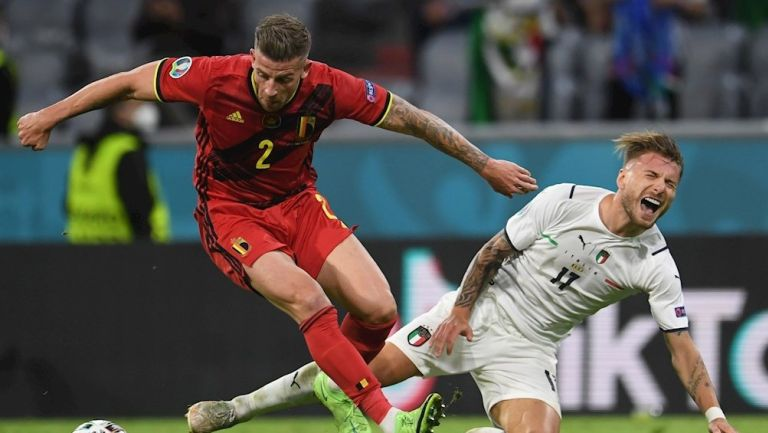 Ciro Immobile durante un partido con Italia