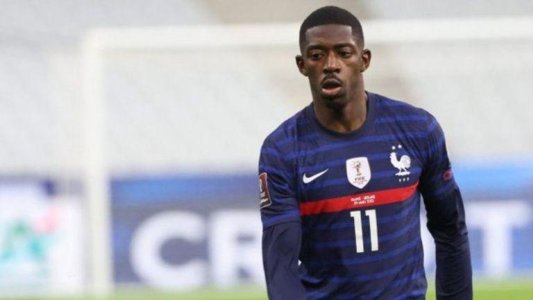 Dembélé en un partido con Francia