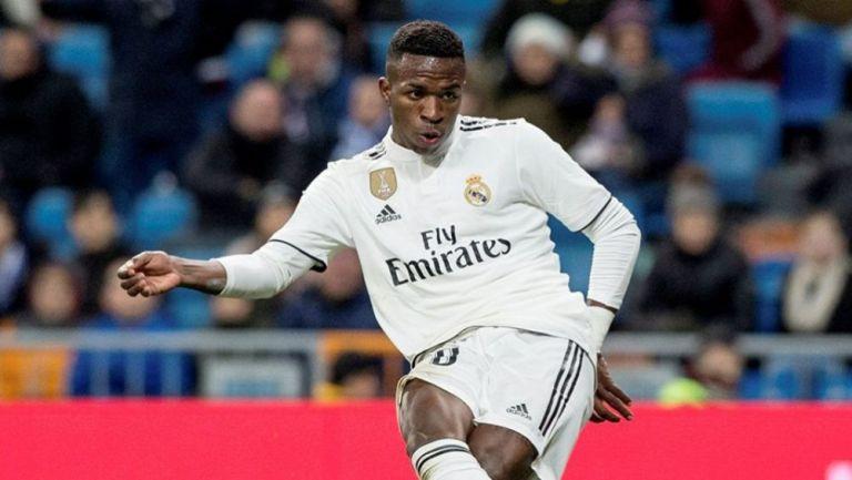 Vinicius en un partido con el Real Madrid