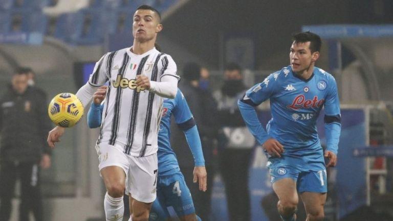 Cristiano Ronaldo y el Chucky en un partido de Serie A