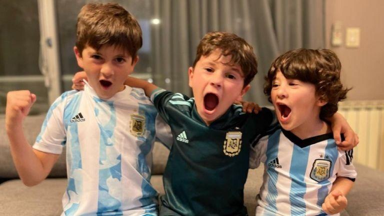 Hijos de Leonel Messi celebran victoria de Argentina en la Copa América