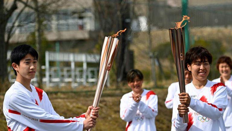 Antorcha olímpica hace su recorrido por Japón