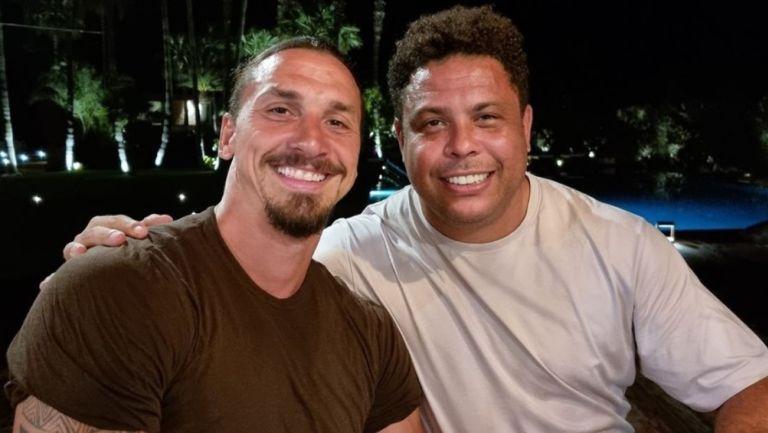 Zlatan Ibrahimovic y Ronaldo Nazario se encontraron en vacaciones en Ibiza