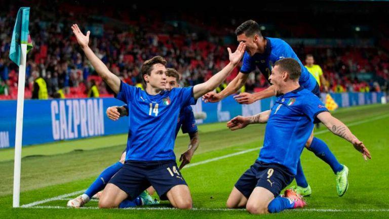 Italia en celebración de gol