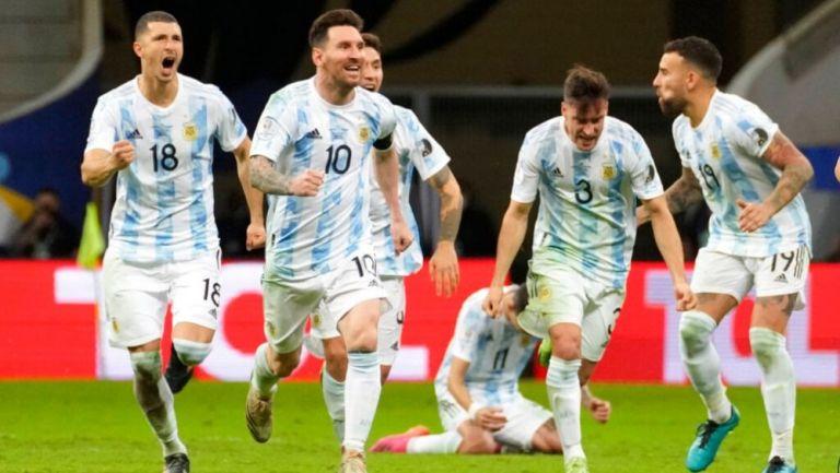 Jugadores de Argentina en festejo