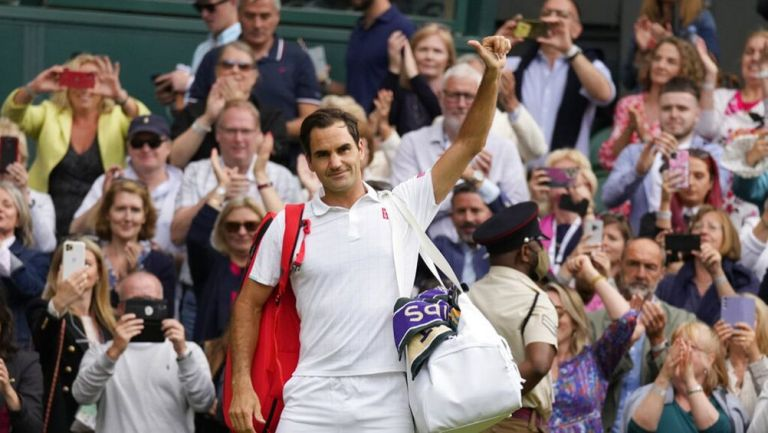 Roger Federer tras su eliminación en  Wimbledon