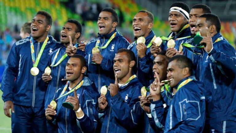 Equipo fiyiano de rugby en Rio 2016