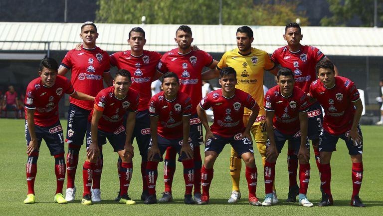 Jugadores de Irapuato previo a un partido