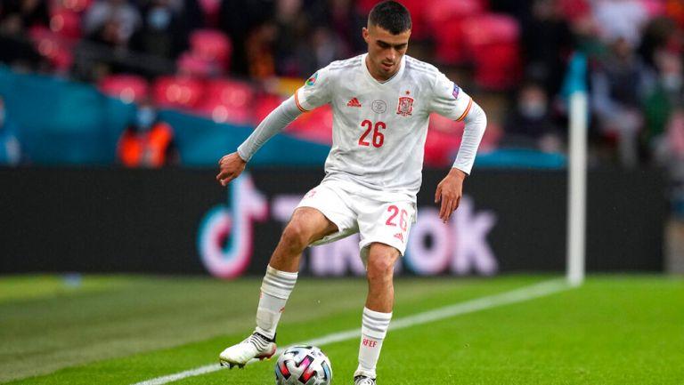 Pedri durante un duelo con España en la Eurocopa