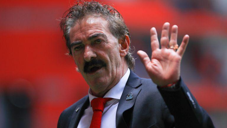 Ricardo La Volpe previo a un duelo del Toluca