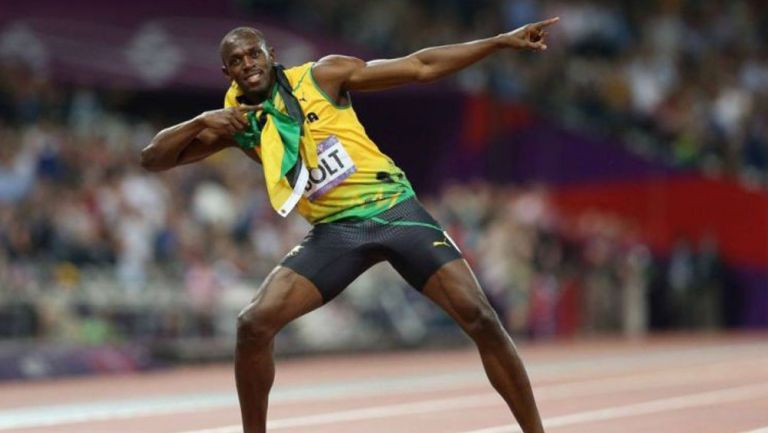 Usain Bolt en festejo